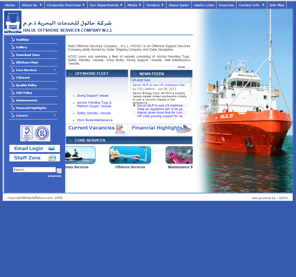 Halul Offshore Services Company (HOSC) | Home | website designing